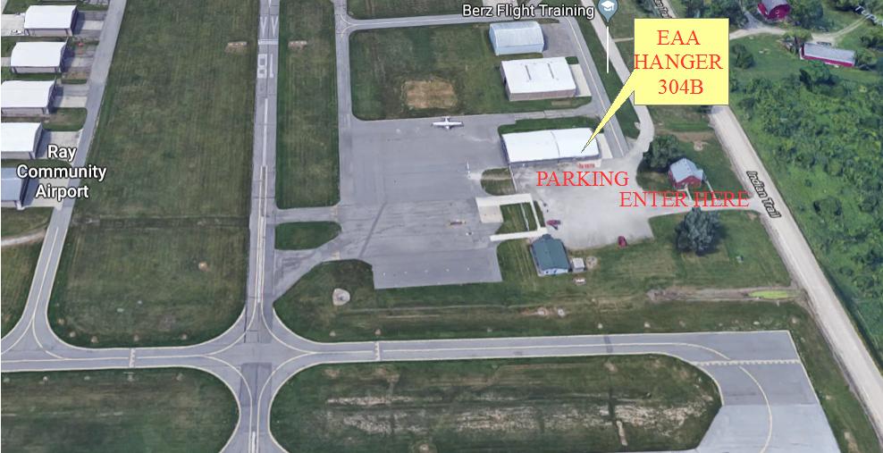 Map to EAA Hangar